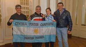 el diputado nacion pablo yedlin la campeona cynthia pinto ..trinqueta